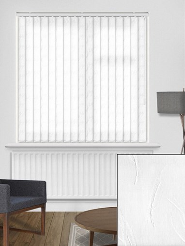 Tangle White 89mm Vertical Blind Replacement Slats