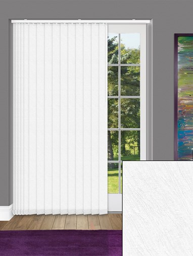 Zyon White 89mm Dim-Out Vertical Blind