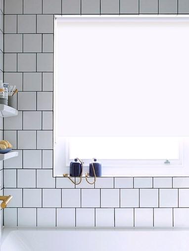 Jasmine White Bathroom Roller Blind