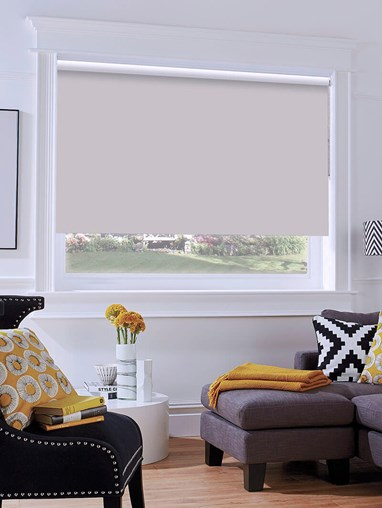 Light Grey Blackout Thermal Express Roller Blind