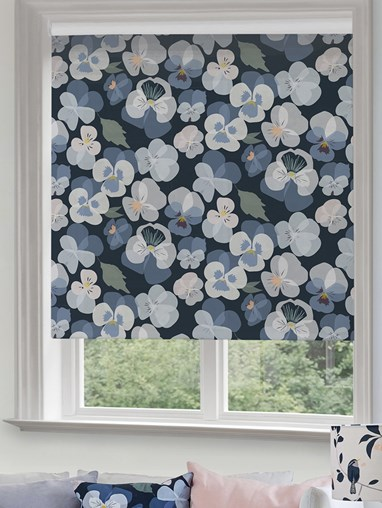 Pansy Roller Blind by Lorna Syson