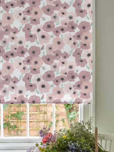 Posy Blush Roller Blind by Lorna Syson