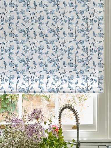 Bluebell Roller Blind by Lorna Syson