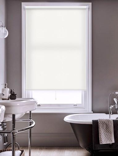Snowflake White Premium Daylight Cordless Spring Loaded Roller Blind