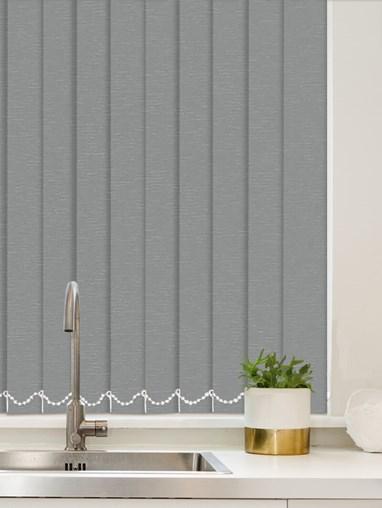 Luxe Steel Wool Waterproof 89mm Vertical Blind
