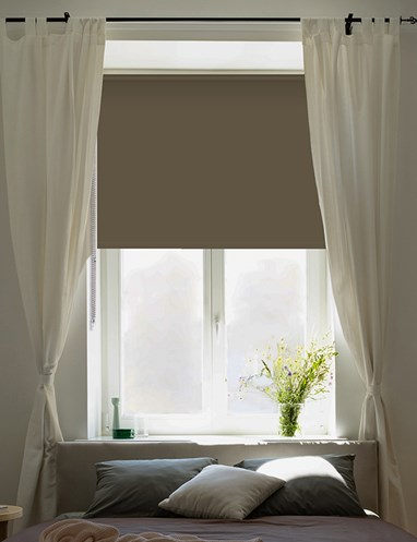 Milk Chocolate Blackout Thermal Roller Blind