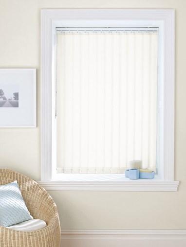 Milky White 89mm Daylight Vertical Blind