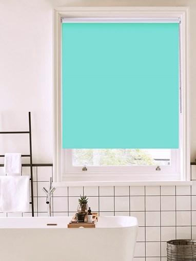 Mint Cream Bathroom Roller Blind