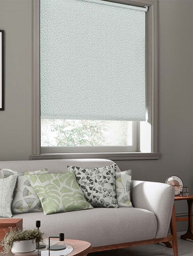 Woven Chimes Fern Green Roller Blind By Miss Print