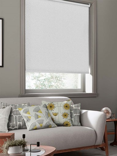 Woven Mono White Roller Blind By Miss Print