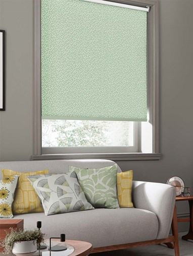 Chimes Pistachio Roller Blind By Miss Print