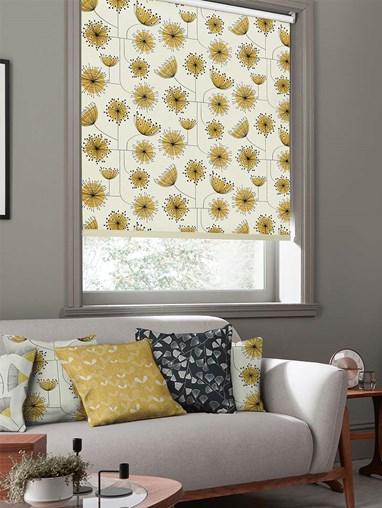 Dandelion Mobile Sunflower Yellow Roller Blind By Miss Print