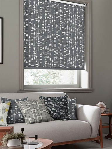 Ditto Liquorice Roller Blind By Miss Print
