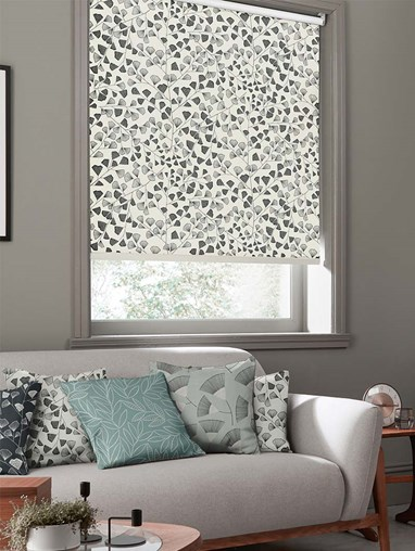 Fern Carbon Roller Blind By Miss Print