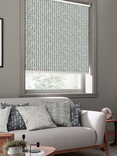 Hierograph Lead Roller Blind By Miss Print