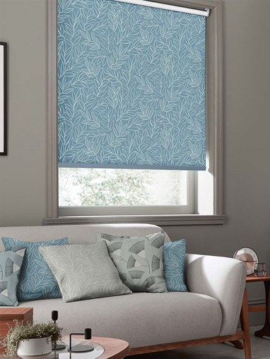 Laurus China Blue Roller Blind By Miss Print