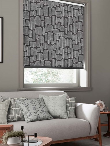 Little Trees Charcoal Roller Blind By Miss Print