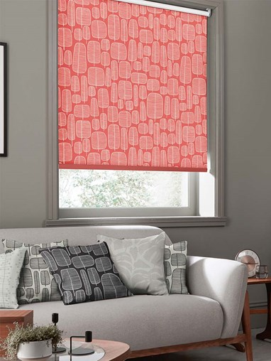 Little Trees Chilli Roller Blind By Miss Print