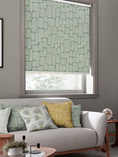 Little Trees English Grey Roller Blind By Miss Print