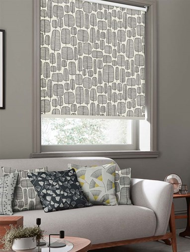 Little Trees Monochrome Roller Blind By Miss Print