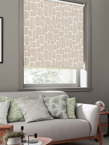Little Trees Stone Roller Blind By Miss Print