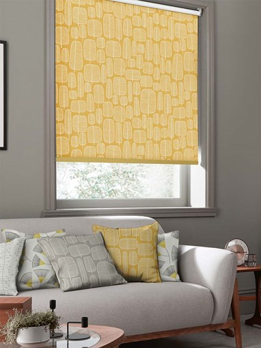 Little Trees Yellow Roller Blind By Miss Print