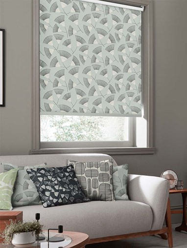 Persia Platinum Roller Blind By Miss Print