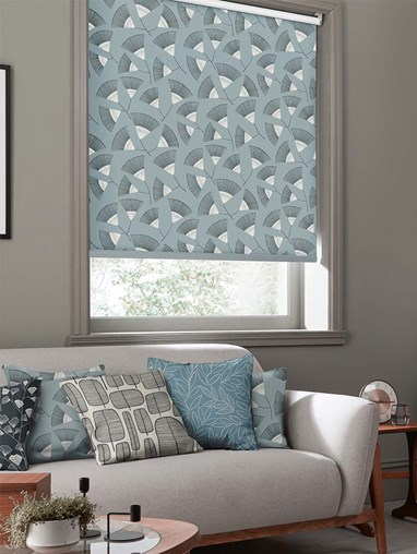 Persia Silversea Roller Blind By Miss Print