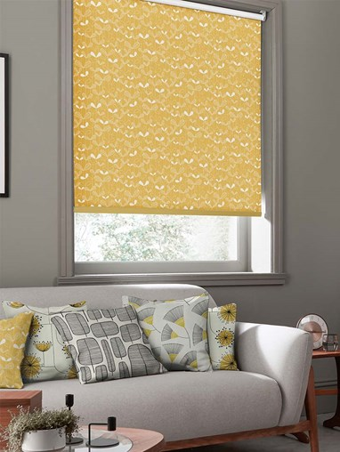 Saplings Yellow Roller Blind By Miss Print