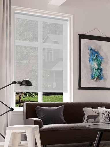 Nordic Grey 3% Sunscreen Cordless Spring Loaded Roller Blind
