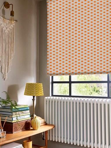 Orla Kiely Ditsy Cyclamen Orange Soft Fabric Roller Blind