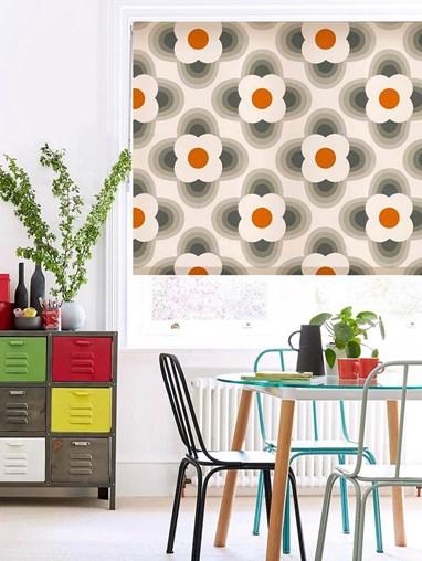 Orla Kiely Striped Petal Orange Soft Fabric Roller Blind