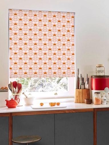 Orla Kiely Sweet Pea Orange Soft Fabric Roller Blind