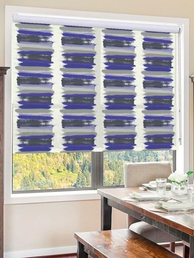 Painterly Stripe Blue Roller Blind