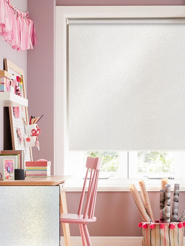 Pearl White Blackout Thermal Roller Blind