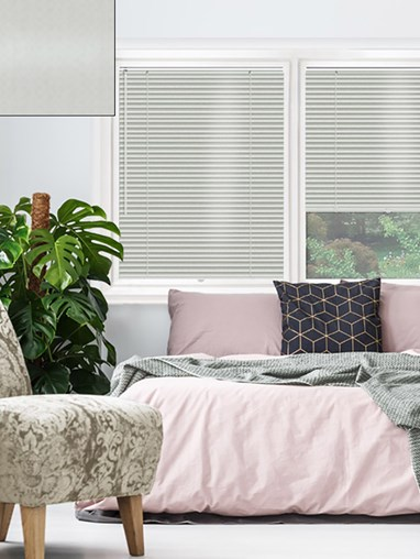 Silver 25mm Perfect Fit Venetian Blind