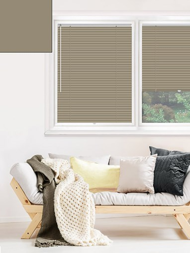 Matte Taupe 25mm Perfect Fit Venetian Blind
