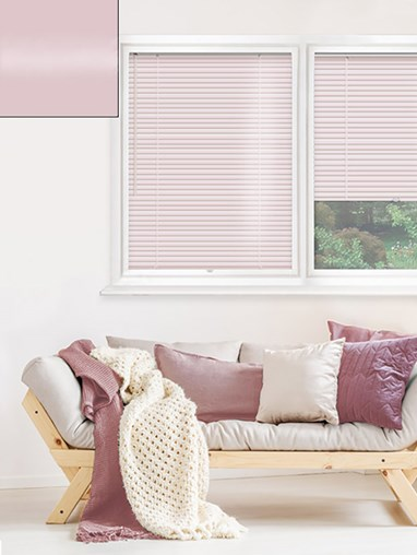 Gloss Pale Pink 25mm Perfect Fit Venetian Blind