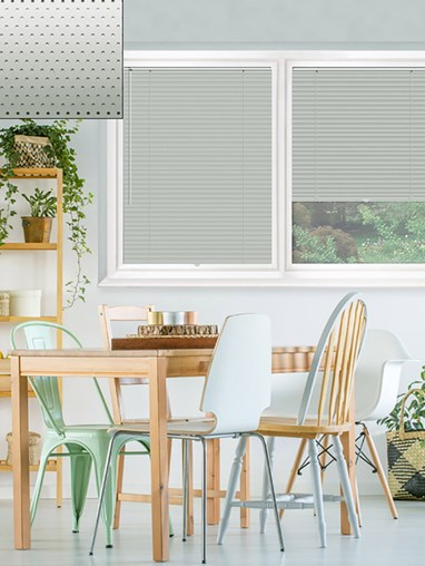 Perforated Silver 25mm Perfect Fit Venetian Blind