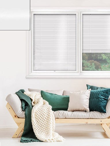 Gloss White 25mm Perfect Fit Venetian Blind