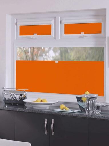 Perfect Fit Blackout Action Orange Bottom Up Blind