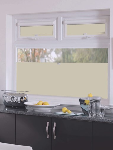 Perfect Fit Blackout Stone Grey Bottom Up Blind