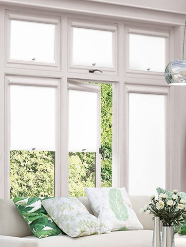 Blackout Bright White Perfect Fit Roller Blind