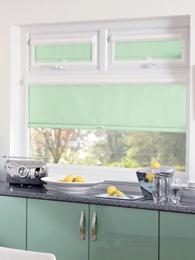 Blackout Mint Green Perfect Fit Roller Blind
