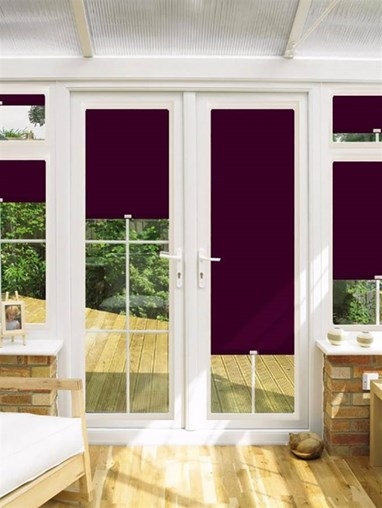 Blackout Iris Perfect Fit Roller Blind for Doors