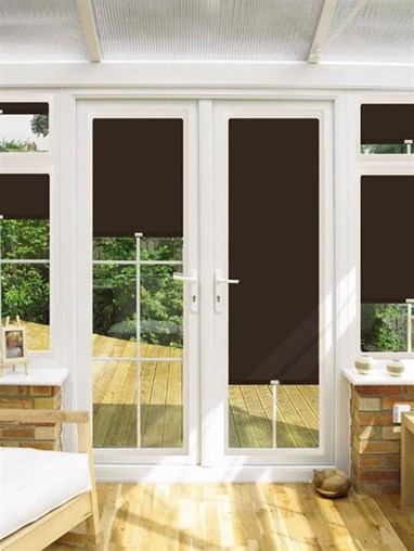 Blackout Espresso Perfect Fit Roller Blind for Doors