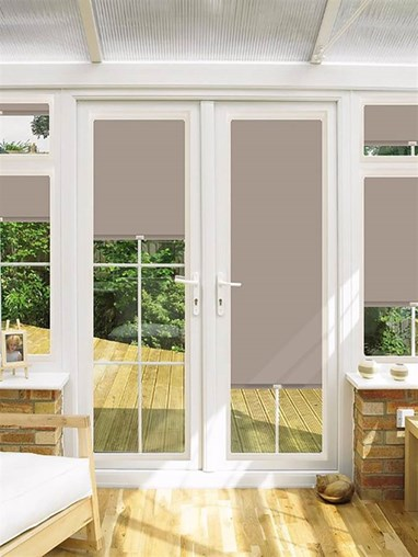 Blackout Cobblestone Perfect Fit Roller Blind for Doors