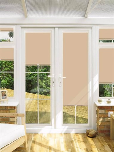 Blackout Cappuccino Perfect Fit Roller Blind for Doors