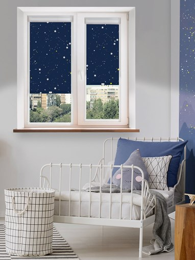 Blackout Evening Stars Perfect Fit Roller Blind