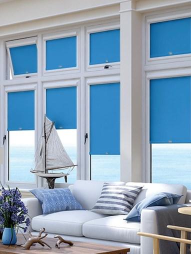 Blackout Regent Blue Perfect Fit Roller Blind